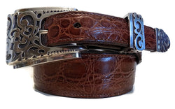 "1"" FILIGREE 3 Piece Buckle Set in .925 Sterling Silver - AL BERES"