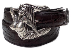 "1"" MERMAID 3 Piece Buckle Set in .925 Sterling Silver - AL BERES"
