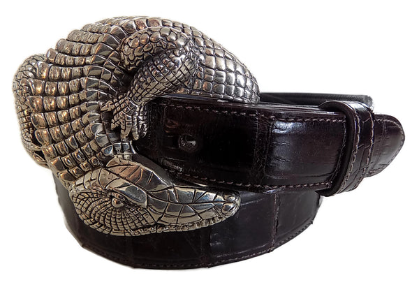 "1.5"" ALLIGATOR ""Buckle Only"" in .925 Sterling Silver - AL BERES"