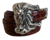 "1"" LEO THE LION 3 Piece Buckle Set in .925 Sterling Silver - AL BERES"