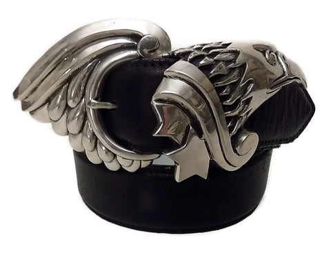 "1½"" GRAND EAGLE 2 Piece Buckle Set in .925 Sterling Silver - AL BERES"