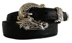 "1"" DRAGON 3 Piece Buckle Set in .925 Sterling Silver - AL BERES"