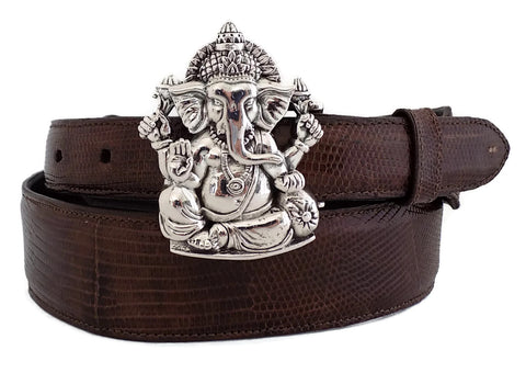 "1"" HINDU GANESHA Buckle with the Elephant Head in .925 Sterling Silver - AL BERES"