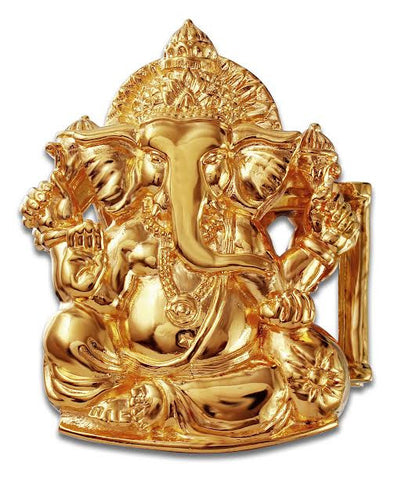 "1"" HINDU GANESHA Buckle in 18kt Gold Vermeil over .925 Sterling Silver - AL BERES"
