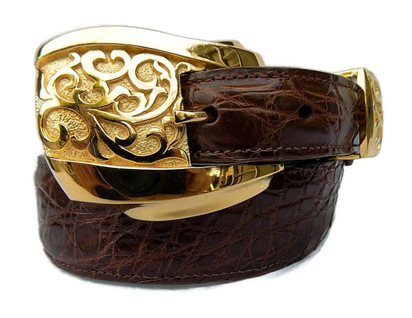 "1"" ADONIS 3 Piece Buckle Set in 18kt Gold Vermeil over .925 Sterling Silver - AL BERES"