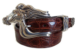 "1"" ARABIAN HORSE 3 Piece Buckle Set in .925 Sterling Silver - AL BERES"