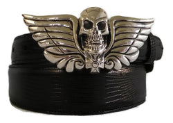 "1"" SKULL HEAD Buckle in .925 Sterling Silver - AL BERES"