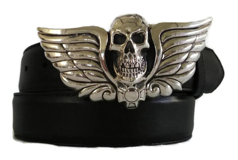 "1½"" SKULL HEAD ""Buckle Only"" in .925 Sterling Silver - AL BERES"