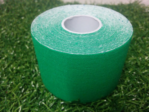 Green - 50mm x 5m - Premium Kinesiology Tape - One Box of 24 Rolls