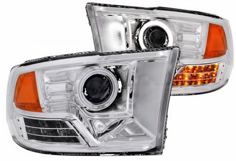 09-16 RAM 1500/10-16 RAM 2500/3500 PROJECTOR HALO CHROME - Auto-Truck-Accessories  - 1