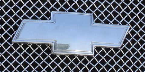 Avalanche Grille Emblem 02-06 Chevrolet Avalanche Billet Bow Tie Front W/Border W/Body Cladding Aluminum Polished T-REX Grilles