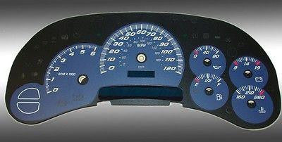 Motor City Gauge Face Overlay for Chevy Tahoe, Silverado,  Avalanche. GMC Yukon - Auto-Truck-Accessories