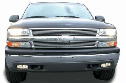 Chevy Grille Insert 99-06 Chevrolet Silverado 00-06 Tahoe/Suburban Aluminum Polished Billet Series T-REX Grilles