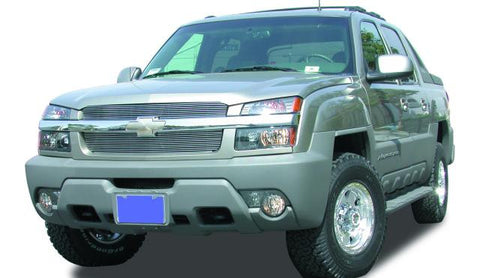 Avalanche Grille Insert 02-06 Chevrolet Avalanche W/Body Cladding Aluminum Polished Billet Series T-REX Grilles