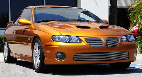 GTO Grille Insert 04-06 Pontiac GTO Aluminum Polished 2 Piece Billet Series T-REX Grilles