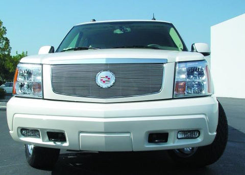 Escalade Grille Insert W/Center Billet Logo Plate 02-06 Cadillac Escalade EXT/ESV Aluminum Polished Billet Series T-REX Grilles