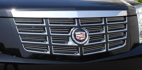 Escalade Grille Insert 07-14 Cadillac Escalade EXT/ESV Aluminum Polished Billet Series T-REX Grilles