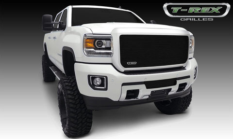 Sierra HD Grille Insert 15-18 GMC Sierra HD Aluminum Powdercoat Black 1 Piece Billet Series T-REX Grilles