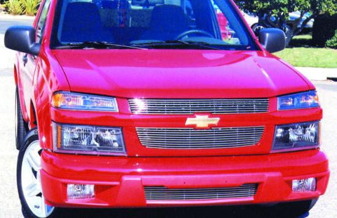 Colorado Grille Overlay 04-12 Chevrolet Colorado Aluminum Polished Billet Series T-REX Grilles