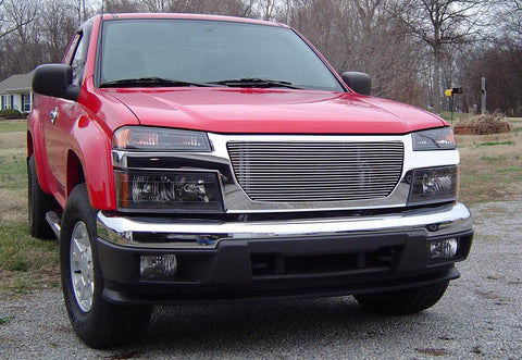 Canyon Grille Insert 04-13 GMC Canyon Aluminum Polished Billet Series T-REX Grilles