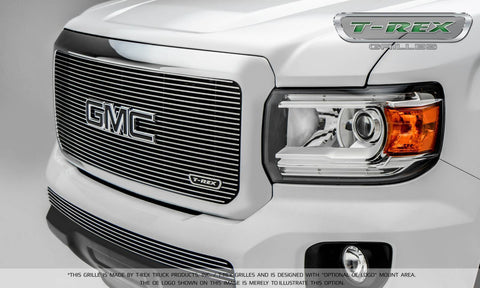 Canyon Grille 15-18 GMC Canyon Aluminum Polished 1 Piece Billet Series T-REX Grilles