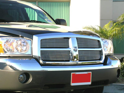 Dakota Grille Insert 05-07 Dodge Dakota Aluminum Polished 4 Piece Billet Series T-REX Grilles