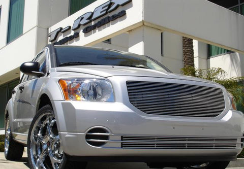Caliber Grille Insert 07-12 Dodge Caliber Not SRT Aluminum Polished 1 Piece Billet Series T-REX Grilles