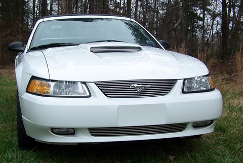 Mustang Grille Insert 99-04 Ford Mustang Aluminum Polished Billet Series T-REX Grilles