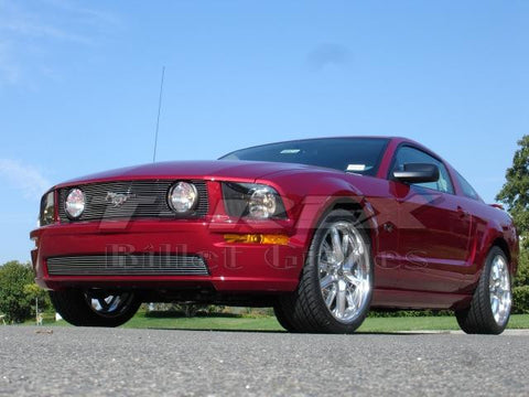 Mustang GT Grille Insert 05-09 Ford Mustang GT Aluminum Polished 3 Piece Billet Series T-REX Grilles