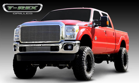 Super Duty Grille Insert 11-16 Ford Super Duty Aluminum Polished 1 Piece Billet Series T-REX Grilles