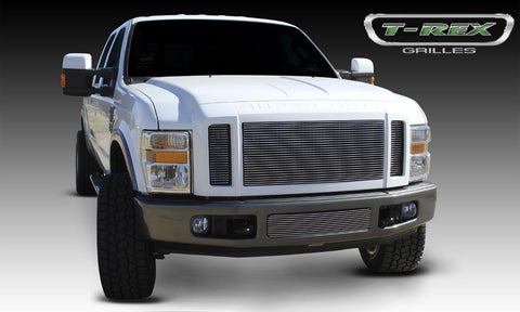 Super Duty Grille Insert 08-10 Ford Super Duty Aluminum Polished 3 Piece Billet Series T-REX Grilles
