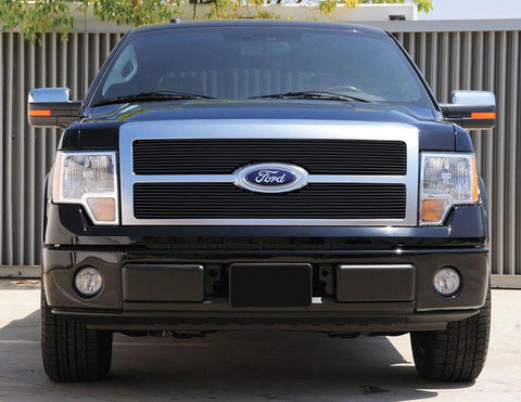 F-150 Grille 09-12 Ford F-150 Aluminum Powdercoat Black 2 Piece Billet Series T-REX Grilles