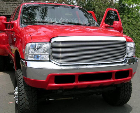 Super Duty Grille Insert 99-04 Ford Super Duty Aluminum Polished 1 Piece Billet Series T-REX Grilles