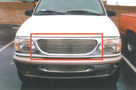 Explorer Grille Insert 95-01 Ford Explorer Aluminum Polished Billet Series T-REX Grilles