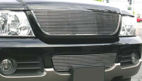 Explorer Grille Insert W/Lower Billet Molding 02-05 Ford Explorer Aluminum Polished Billet Series T-REX Grilles