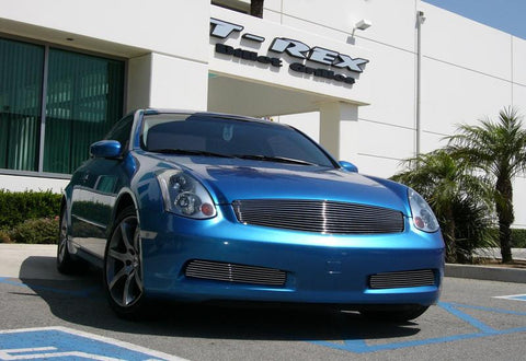 G-35 Coupe Grille Insert 03-07 Infiniti G-35 Coupe Aluminum Polished Billet Series T-REX Grilles