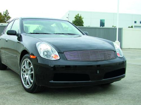 G-35 Sedan Grille Insert 05-06 Infiniti G-35 Sedan Aluminum Polished Billet Series T-REX Grilles