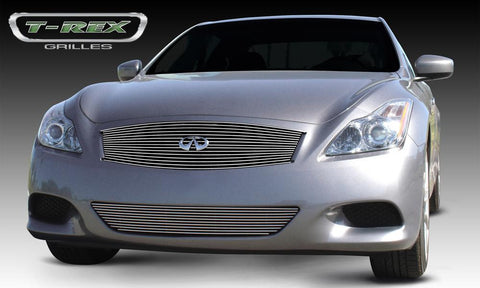 G-37 Coupe Grille Insert 08-14 Infiniti G-37 Coupe Aluminum Polished Billet Series T-REX Grilles