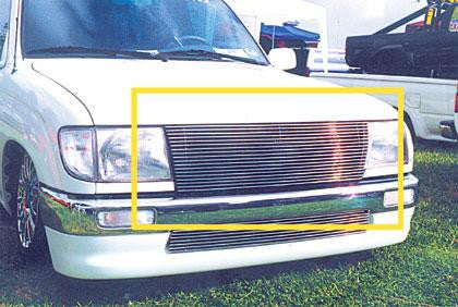 Tacoma Grille Insert 97-00 Toyota Tacoma Aluminum Polished Billet Series T-REX Grilles