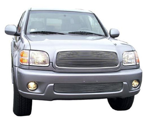 Sequoia Grille Insert 01-04 Toyota Sequoia Aluminum Polished Billet Series T-REX Grilles