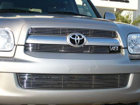 Sequoia Grille Insert 05-07 Toyota Sequoia Aluminum Polished 2 Piece Billet Series T-REX Grilles