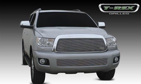 Sequoia Grille Insert 08-14 Toyota Sequoia Aluminum Polished 1 Piece Billet Series T-REX Grilles