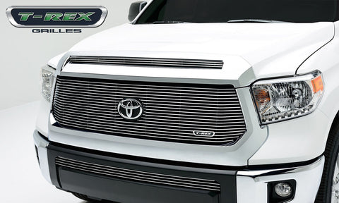 Tundra Grille W/OE Logo Recessed Area 14-17 Toyota Tundra Aluminum Polished 1 Piece Billet Series T-REX Grilles