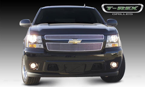 Tahoe/Suburban 07-13 Avalance Grille Overlay 07-14 Chevrolet Tahoe/Suburban 07-13 Avalance Aluminum Polished 2 Piece Billet Series T-REX Grilles