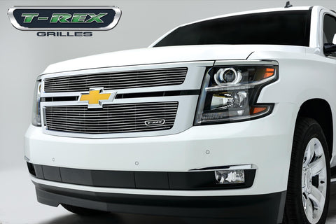 Suburban/Tahoe Grille Overlay 15-18 Chevrolet Suburban/Tahoe Aluminum Polished 2 Piece Billet Series T-REX Grilles