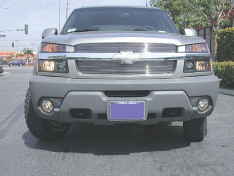Avalanche Grille Overlay 02-06 Chevrolet Avalanche W/Body Cladding Aluminum Polished 2 Piece Billet Series T-REX Grilles
