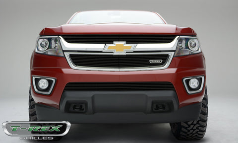 Colorado Grille 15-18 Chevrolet Colorado Aluminum Powdercoat Black 2 Piece Billet Series T-REX Grilles