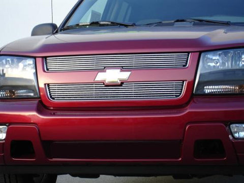 Trailblazer LT Grille Overlay 06-09 Chevrolet Trailblazer LT Aluminum Polished 2 Piece Billet Series T-REX Grilles