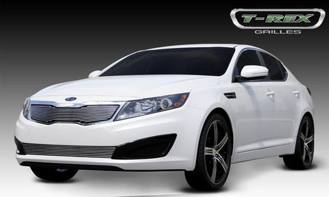 Optima Grille Overlay 11-13 Kia Optima Aluminum Polished Billet Series T-REX Grilles