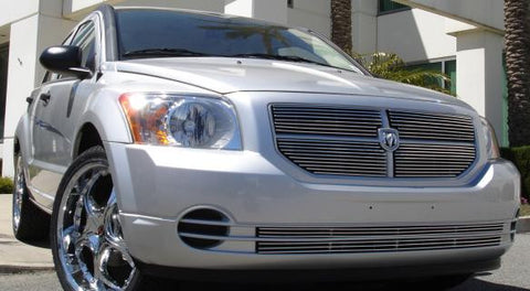 Caliber Grille Overlay 07-12 Dodge Caliber Not SRT Aluminum Polished 4 Piece Billet Series T-REX Grilles